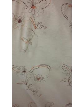 Tissu Crépon Polyester Brodé 02