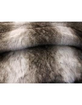 Tissu Fausse Fourrure Loup fond Beige