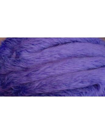 Fausse Fourrure Violet Parme Poils Longs