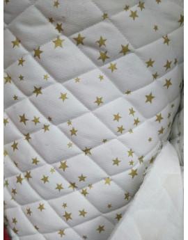 Tissu Matelassé étoiles 1