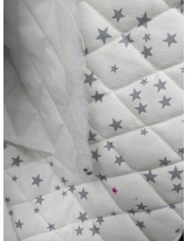 Tissu Matelassé étoiles 2