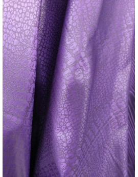 Tissu Brocart Violet Effet Simili