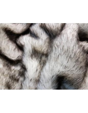 Tissu Fausse Fourrure Brun Fond Blanc