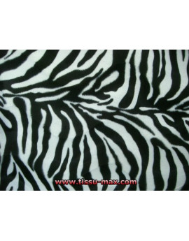 Tissu Fausse Fourrure Zebre Blanc 19A