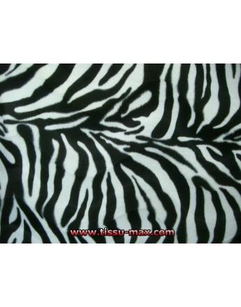 Tissu Zebre Blanc A004