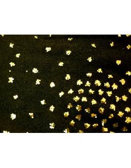 Tissu Jersey Noir pailleté A002