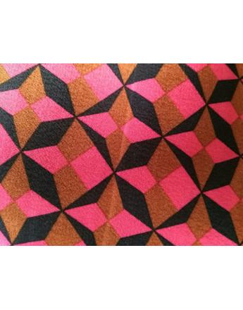 Tissu viscose triangle année 70