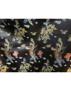 Tissu Chinois Noir