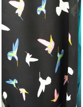 Tissu Soie Oiseaux