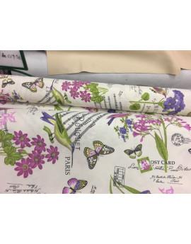 Tissu Coton Ameublement Fleuri