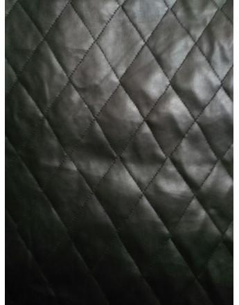 Tissu Matelassé Simili Noir