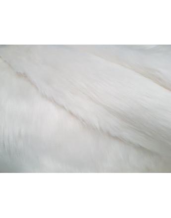Fausse Fourrure Poils Long Blanc
