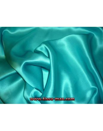 Satin de Soie Turquoise Clair 11