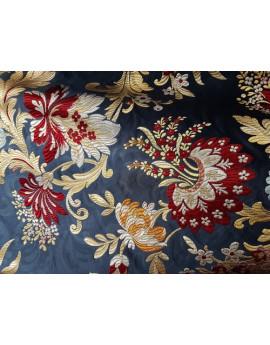 Coton Viscose Polyester Grosse Fleur 01