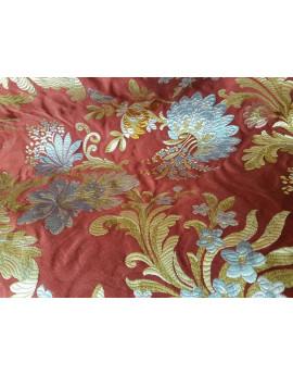 Tissu Coton Visc. Poly. Grosse Fleur 02