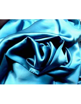 Satin de Soie Turquoise Foncé 12