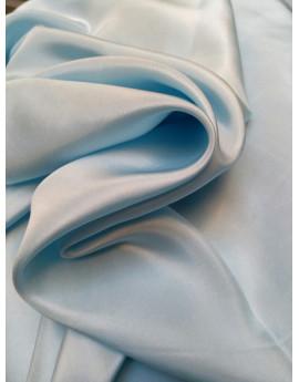Pongé de soie bleu