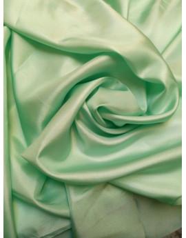 Pongé de soie vert anis