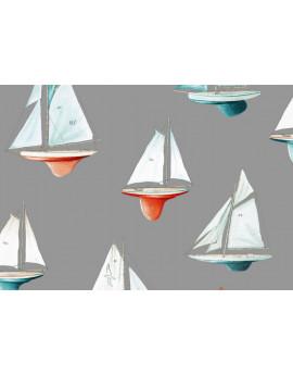 Mon beau bateau - fond gris