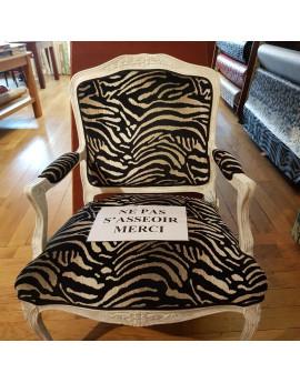 Tissu velour zebre