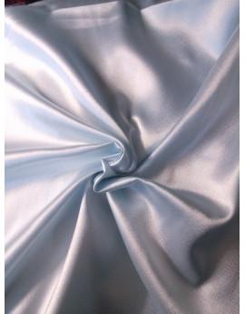 Tissu Satin Polyester Elastique Bleu Ciel