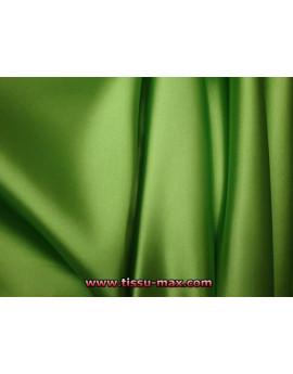 Tissu Satin Polyester Elastique Vert