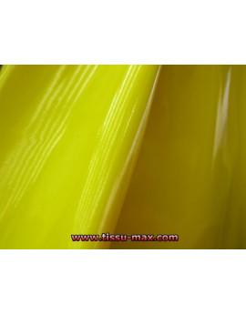 Tissu Vinyl Jaune Citron