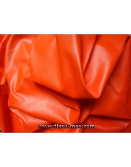 Tissu Similicuir Souple Orange Foncé
