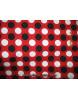 Pois Noir/ Blanc sur Fond Rouge A000
